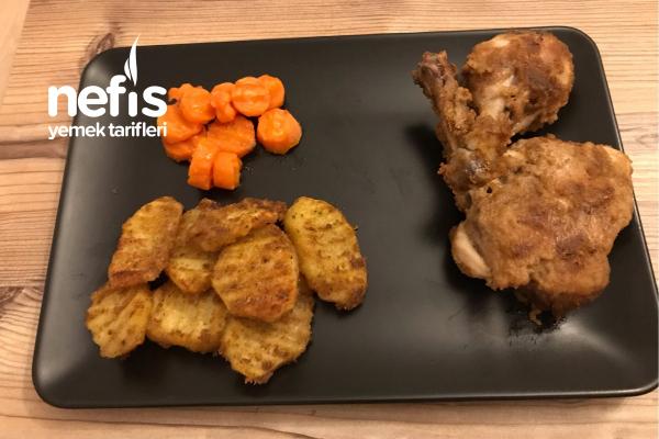Cajun Baharatlı Çıtır Tavuk Ve Patates