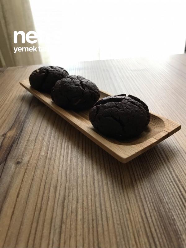 Nutellalı Fındık Ezmeli Hindistan Cevizli Islak Kurabiye