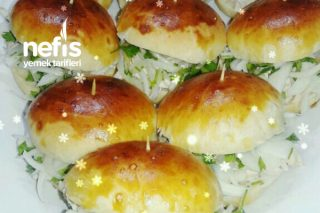 Tavuklu Soğanlı Sandviç Poğaça Tarifi