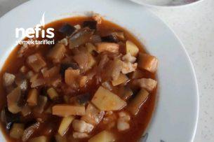 Etsiz Sulu Patlıcan Yemeği Tarifi