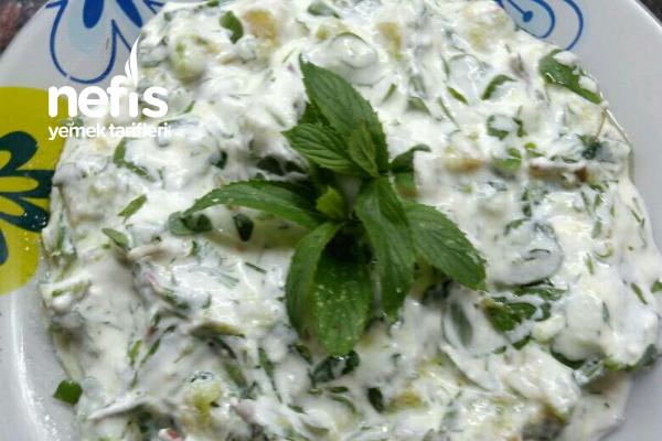 Kabaklı Semizotu Salatası (Yoğurtlama) Tarifi