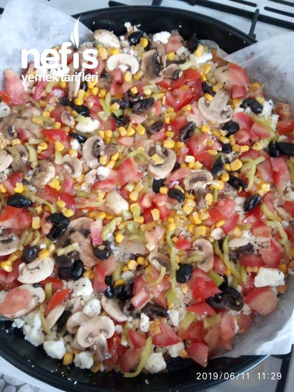 (bayat Ekmekler Çöpe Gitmesin) Bayat Ekmek Pizzası