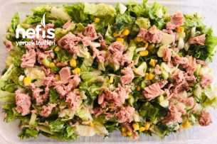Özel Soslu Ton Balıklı Salata Tarifi