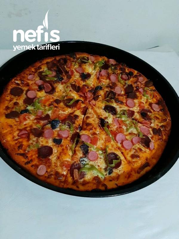 Pizza Siparişine Son :) İnce Hamur Sevenler Buraya Kesinlikle Deneyin Pişman Olmayacaksınız