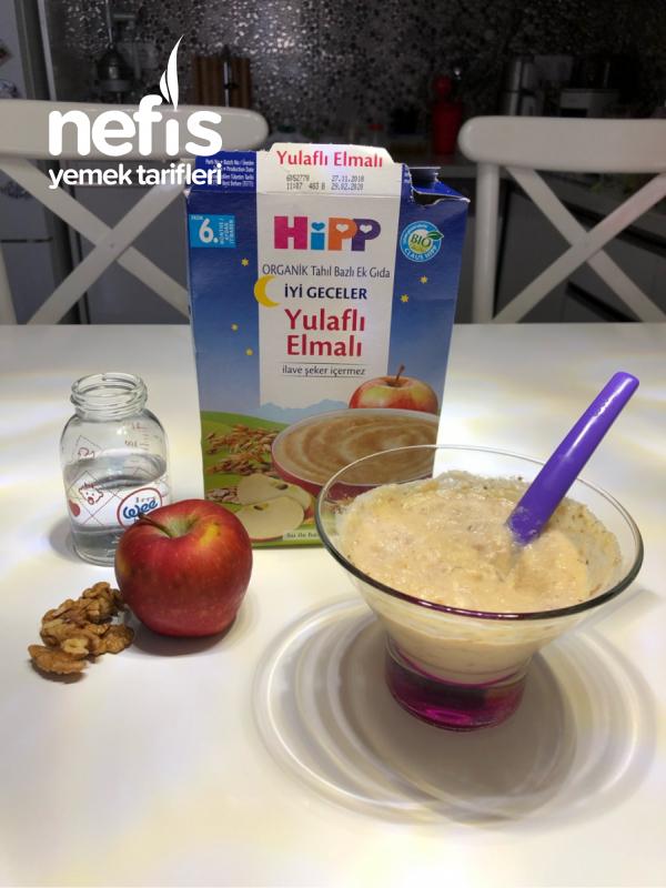 Elmalı-yulaflı-cevizli Bebek Kahvaltısı