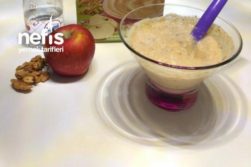 Elmalı Yulaflı Cevizli Bebek Kahvaltısı Tarifi