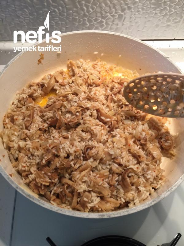 Kuru Kabaklı Pirinç Pilavı