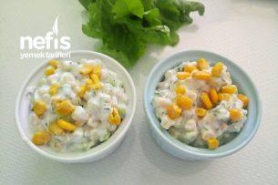 Salatalık Mısır Salatası Kesinlikle Denemelisiniz Tarifi