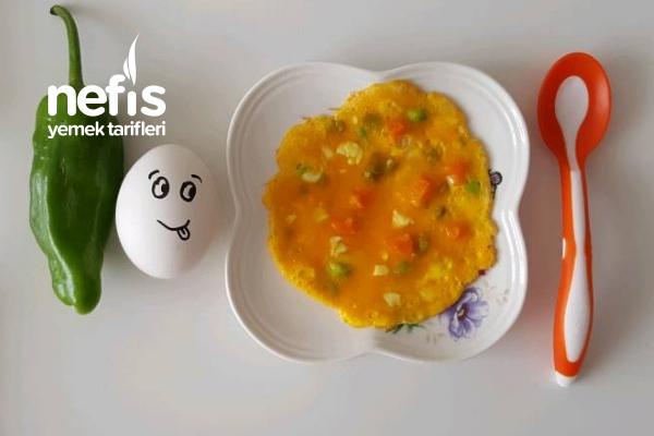 Sebzeli Bebe Omlet +8 Ay
