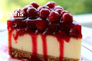 Vişneli Cheesecake (Hazır Yemeye Son!) Tarifi