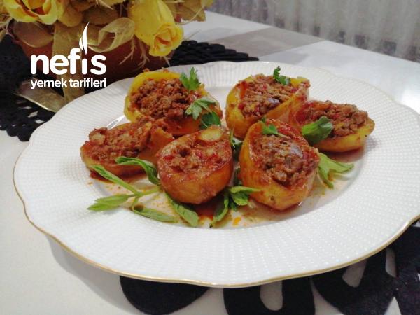 Kıymalı, Patates Çanakları (fırınsız, Çok Leziz)