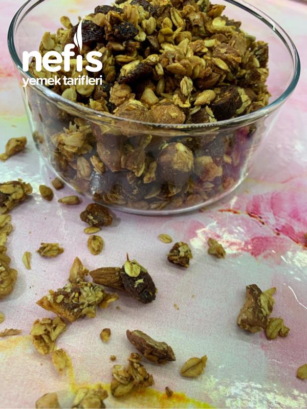Sağlıklı Granola + Elma Püresi Tarifi