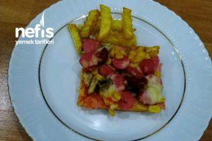 Mayasız Pizza Tarifi (Tam Kıvamında)