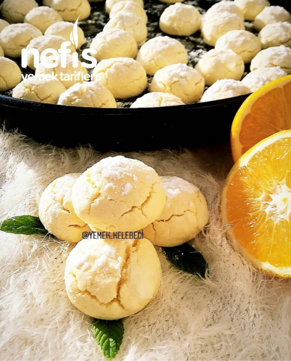 Portakal Aromalı Çatlak Kurabiye