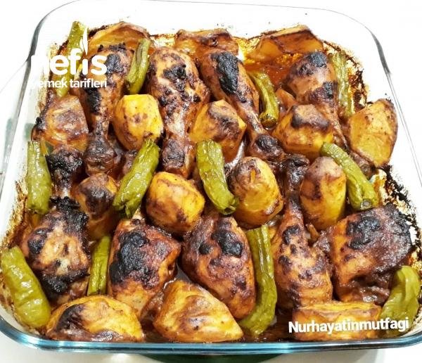 Mangal Lezzetinde Fırında Tavuk Baget