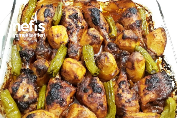 Mangal Lezzetinde Fırında Tavuk Baget Tarifi