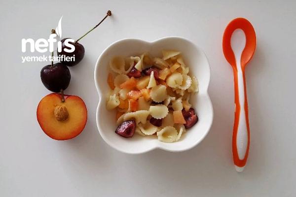 Meyveli Bebe Makarna  8 Ay Tarifi