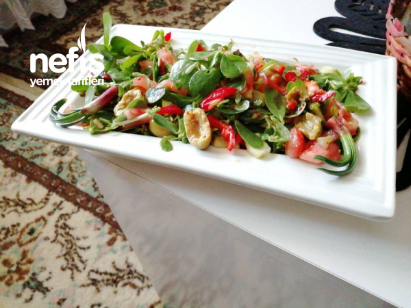 Semizotu Salatası (az Malzeme Bol Lezzet)
