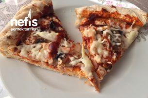 Barbekü Soslu Tavuklu Mantarlı Ve Soğanlı Pizza Tarifi