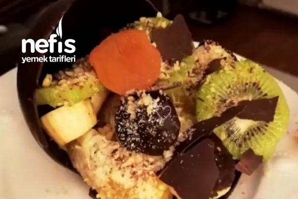 Çikolata Kabında Meyve Tabağı Tarifi