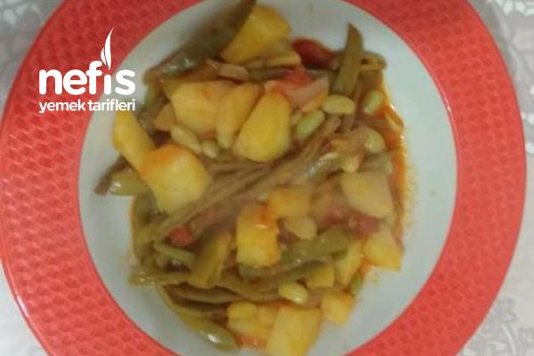 Patatesli Taze Yeşil Fasulye Yemeği Tarifi