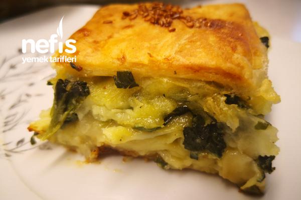 Bu Böreği Çok Seveceksiniz Milföylü Ve Yufkalı Ispanaklı Börek (Videolu) Tarifi