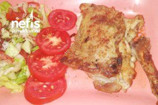 Tavada Mangal Tadında Tavuk Pirzola (Kemikli Tavuk Budu) Tarifi