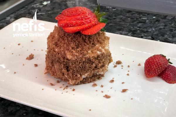 Köstebek Pasta Videolu Tarif (Porsiyonluk) Mini Pasta Tarifi