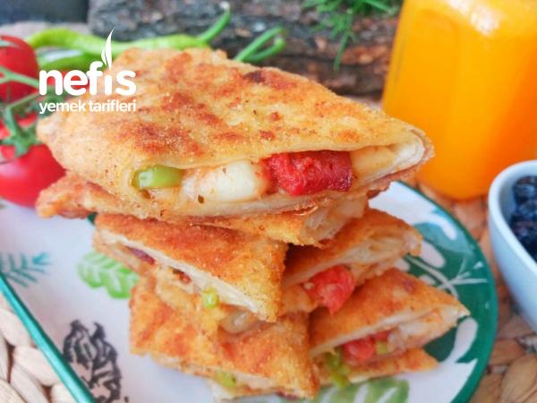 Pizza Tadında Çıtır Pratik Kahvaltı Böreği ( İster Yağda İster Fırında )