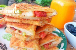 Pizza Tadında Çıtır Pratik Kahvaltı Böreği (İster Yağda İster Fırında) Tarifi