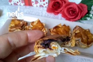 3 Malzemeli Çokokremli Börekcikler (Çok Çıtır Hemen Hazır) Tarifi