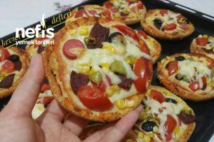Daha Yumuşak Ve Daha Doyurucu Hamburger Ekmeği Pizzası Tarifi
