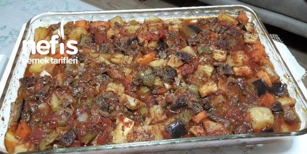 Fırında Etli Sebze Kebabı