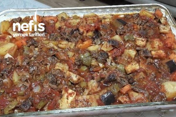 Fırında Etli Sebze Kebabı Tarifi