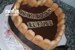 Karamel Muhallebili Bisküvili Pasta (Çok Pratik Dondurma Havasında) Tarifi