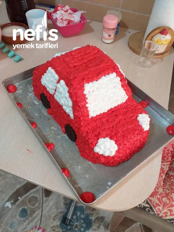 Araba Pasta (oğlumun Doğum Günü Pastasi)