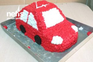Araba Pasta (Oğlumun Doğum Günü Pastası) Tarifi