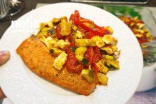 Fırında Sebzeli Somon Balığı (Low Carb) Tarifi