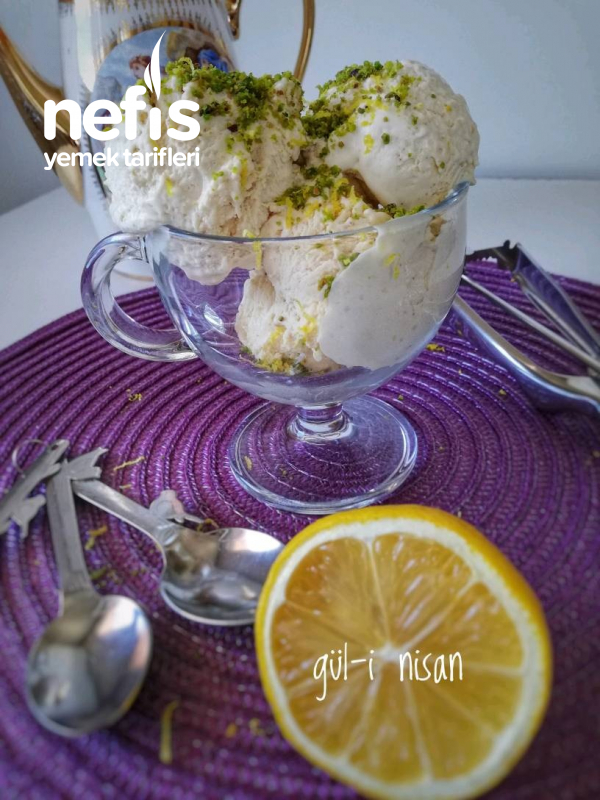 Beyaz Çikolatalı Limonlu Dondurma (orijinal Tarif – Gerçek Dondurma)