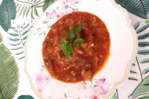 Közlenmiş Patlıcan Yemeği (Meze) Tarifi