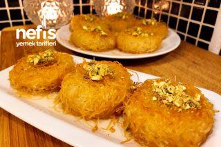 Muffin Kalıbında Kadayıf Tatlısı (Tam Kıvamında) Tarifi
