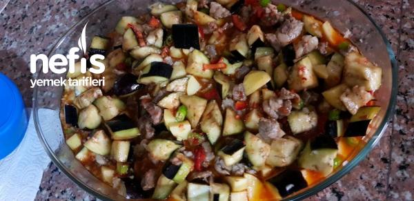 Etli Sebze Yemeği(Fırına At Pişir-Fotoğraflarla Anlatım)
