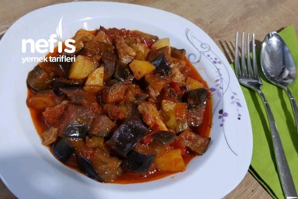 Etli Sebze Yemeği (Fırına At Pişir-Fotoğraflarla Anlatım)