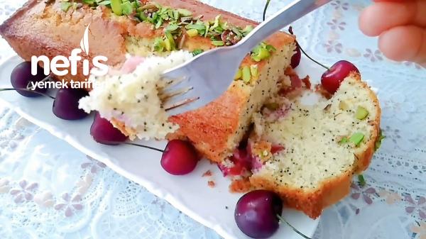 Mis Kokulu Haşhaşlı Ve Kirazlı Kek Tarifi