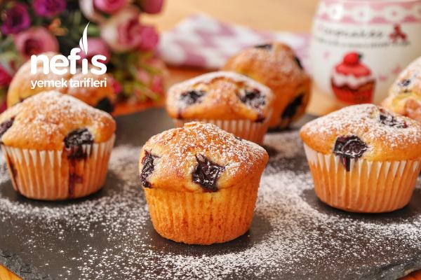 Vişneli Topkek (Muffin)