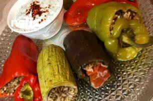 Etli Taze Yaz Dolması (Patlıcan , Kabak , Biber) Tarifi