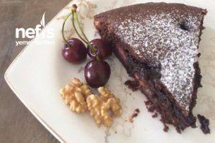 Kirazlı Cevizli Çikolatalı Kek Tarifi