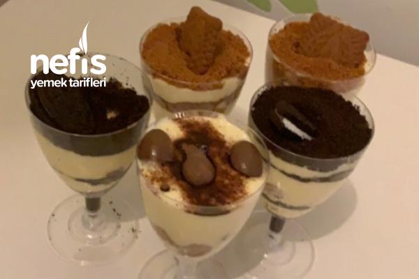 Bardak Tiramisu Çikolatalı Bisküvili Tarifi