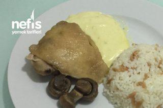 Patates Püresi Eşliğinde Tava Da Kendi Yağıyla Pişen Tavuk – Mantar Tarifi