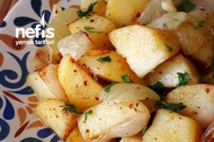 Soğanlı Patates Kavurması (Haşlamadan) Tarifi